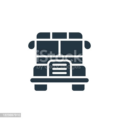 istock school bus icon. Glyph school bus icon for website design and mobile, app development, print. school bus icon from filled back to school collection isolated on white background.. 1323697910