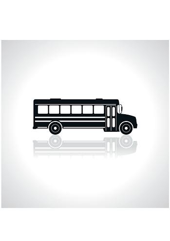 School bus icon. Illustration Vector.