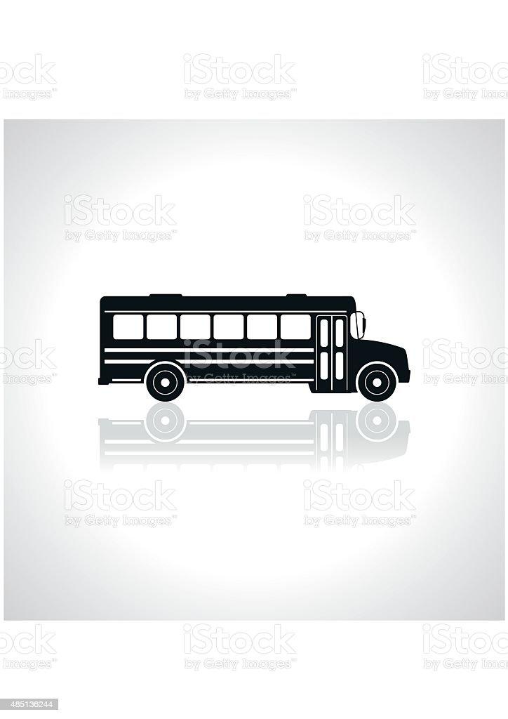 Ônibus Escolar ícone. Ilustração vetor. - ilustração de arte em vetor