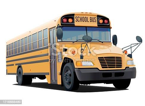 istock School bus illustration 1216666480
