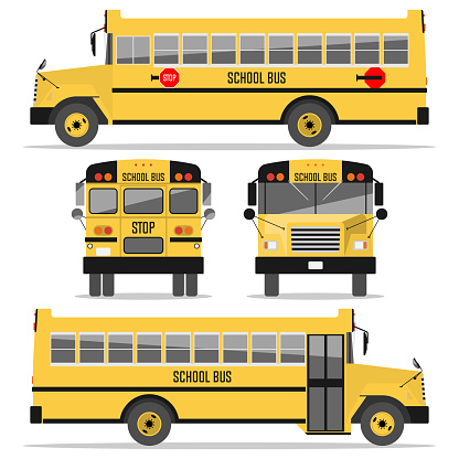 School bus. Isolated on white background