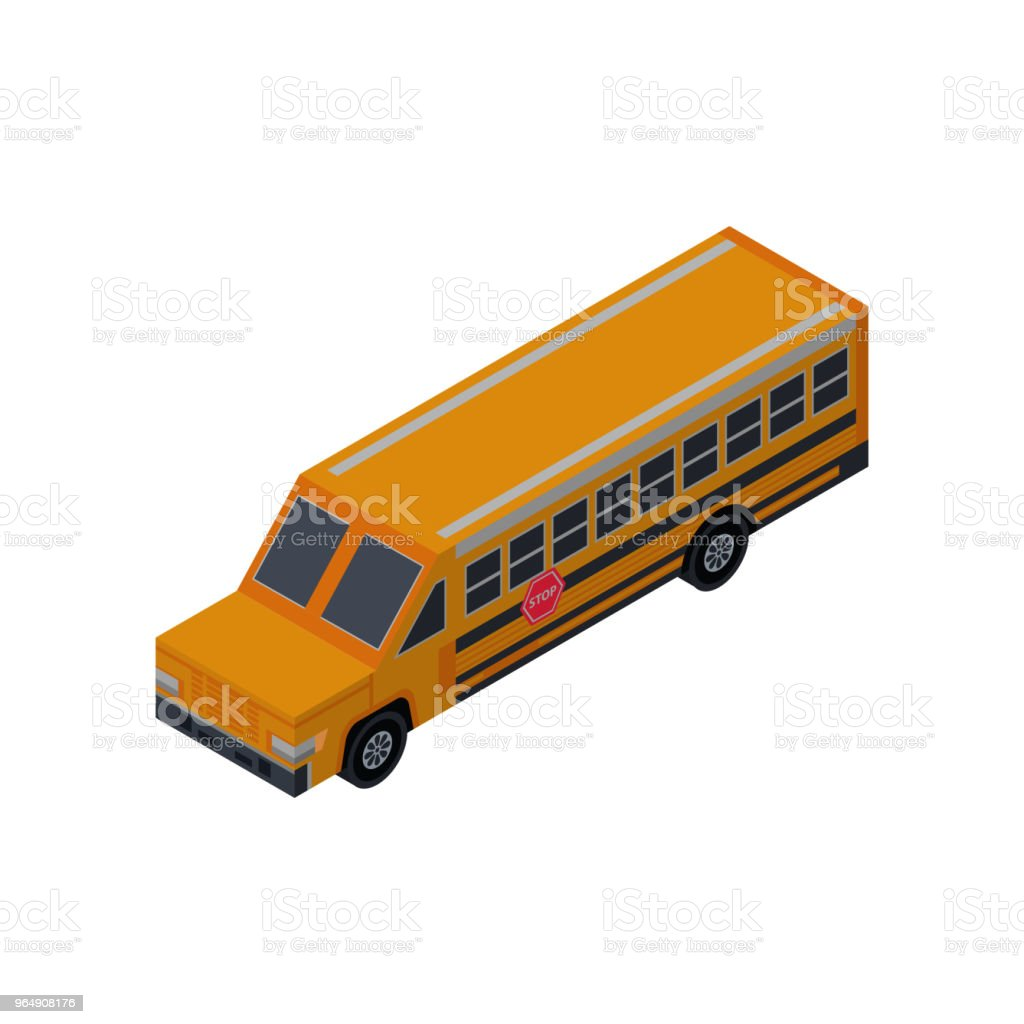 School bus isometric 3D element royalty-free school bus isometric 3d element stock vector art & more images of bus