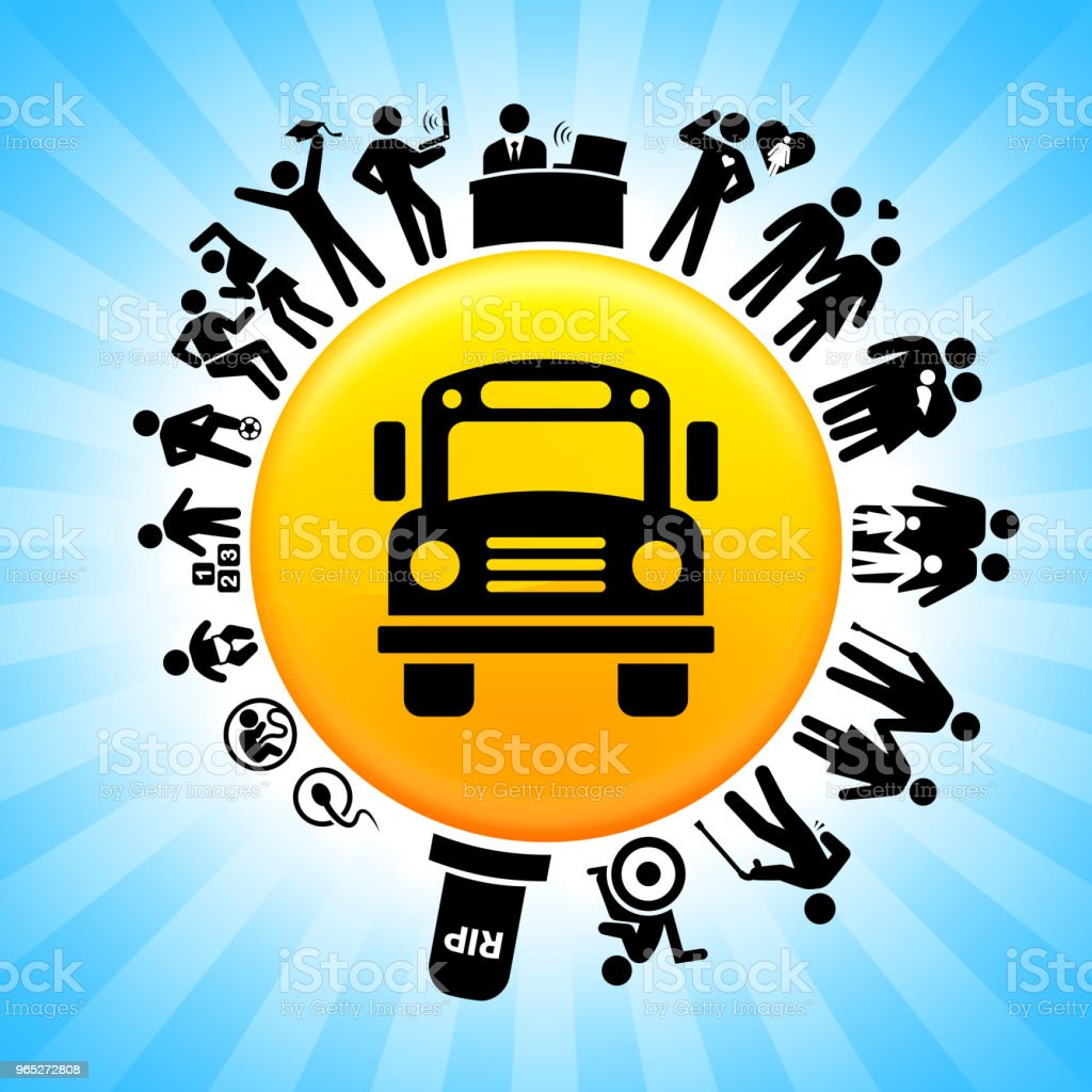 School Bus Lifecycle Stages of Life Background royalty-free school bus lifecycle stages of life background stock vector art & more images of adolescence