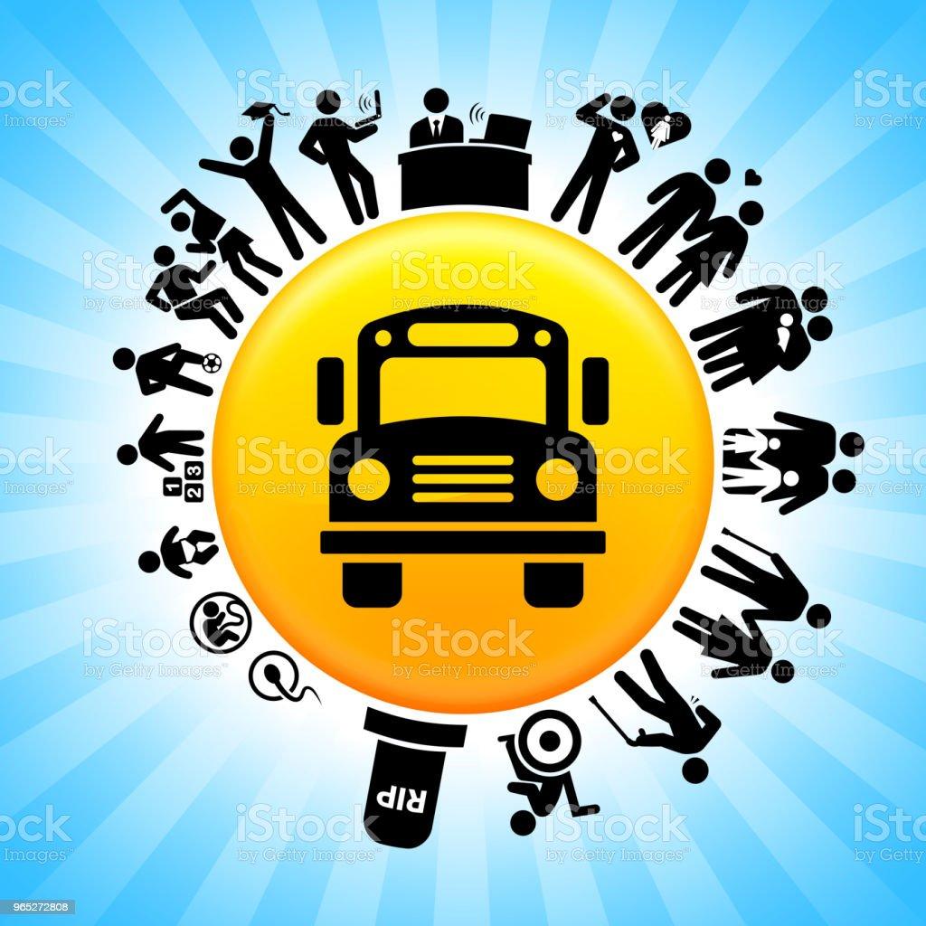 School Bus Lifecycle Stages of Life Background school bus lifecycle stages of life background - stockowe grafiki wektorowe i więcej obrazów adolescencja royalty-free
