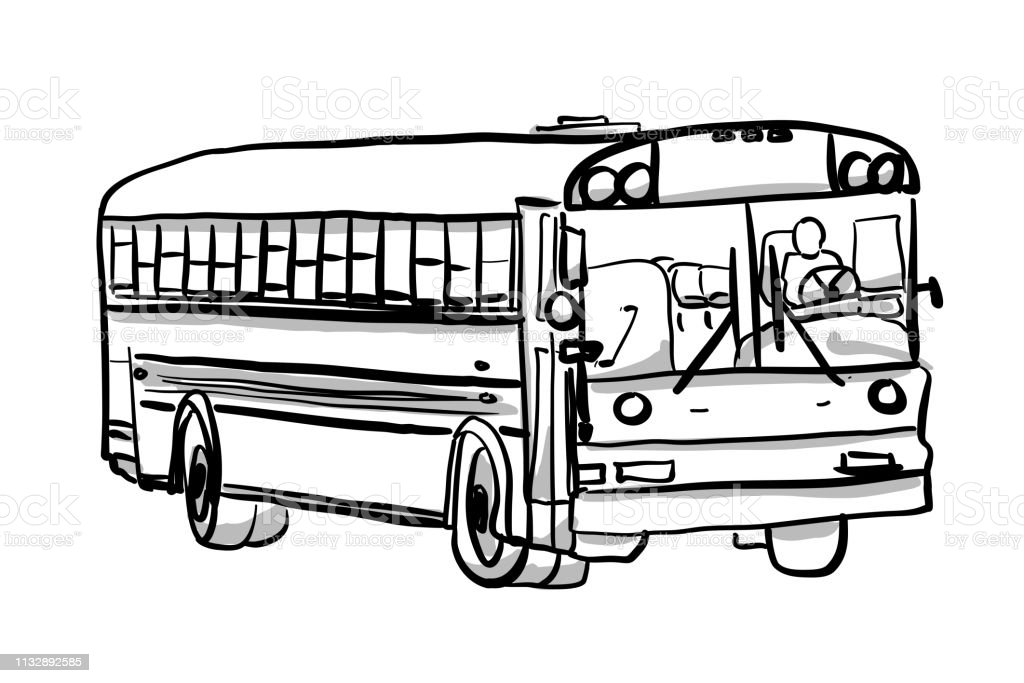 School Bus Off Duty Stock Illustration Download Image Now Istock