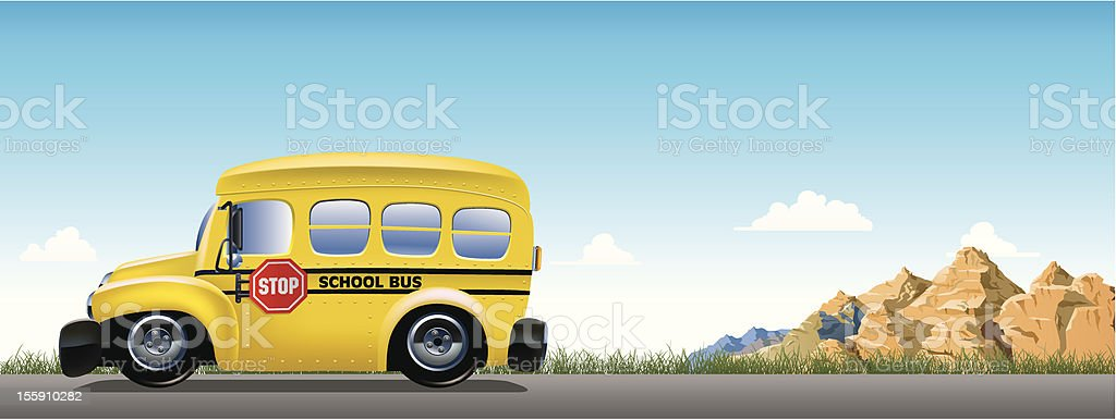 School Bus on the trip royalty-free school bus on the trip stock vector art & more images of back to school