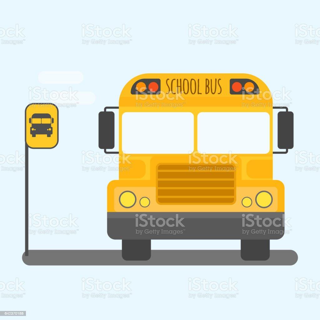School bus transport for children vector illustration vector art illustration
