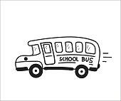 School Bus. Vector doodle illustration in eps10