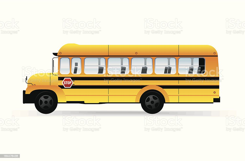School bus. vector art illustration
