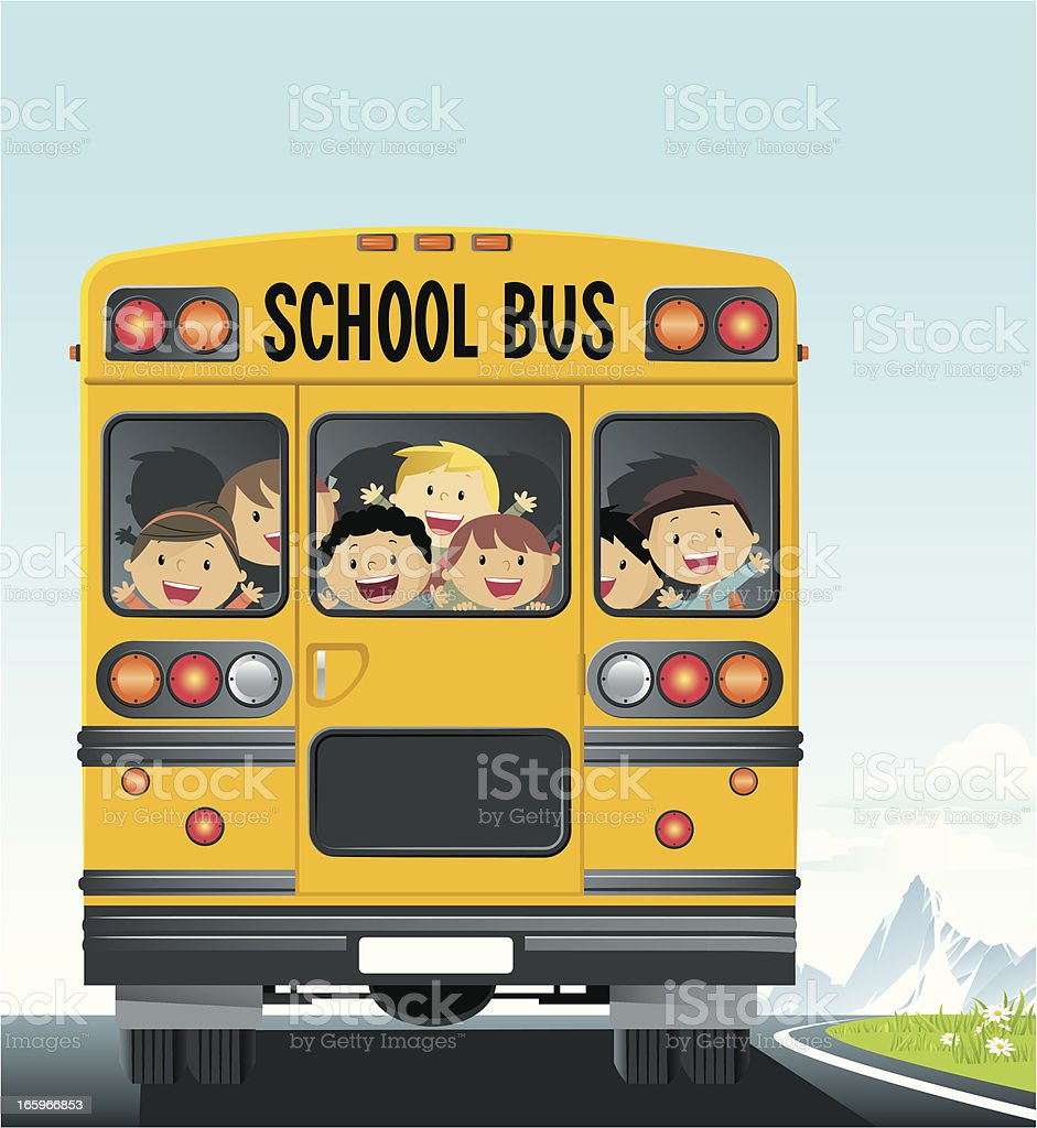 School Bus vector art illustration