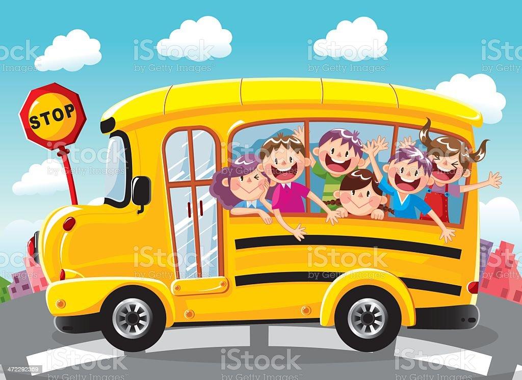 学校のバス ベクターアートイラスト