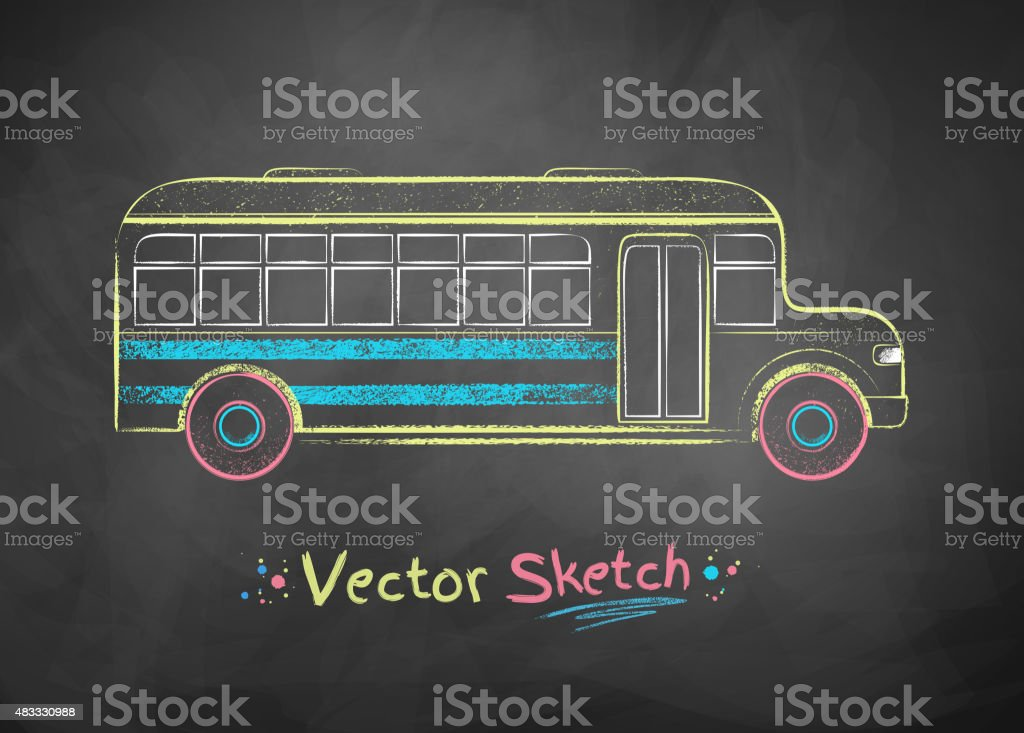 Ônibus escolar. - ilustração de arte em vetor