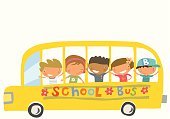 Kids with different nationalities going to school.  All the kids are complete and can be used seperately in other design. Zip contains AI and PDF format.