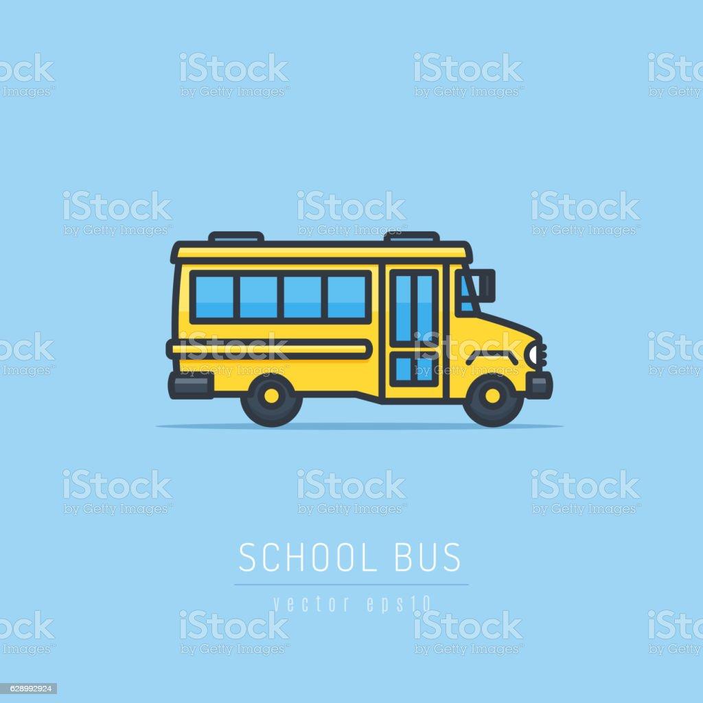 Ônibus Escolar  - ilustração de arte em vetor