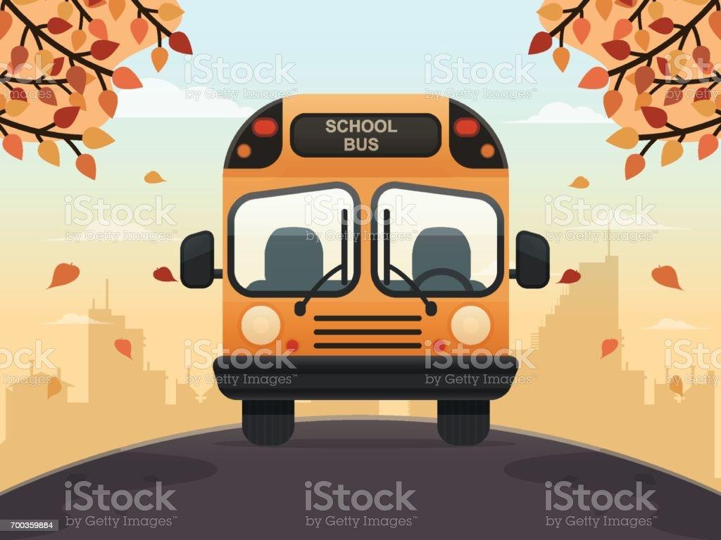 School Bus - Royalty-free Autumn stock vector