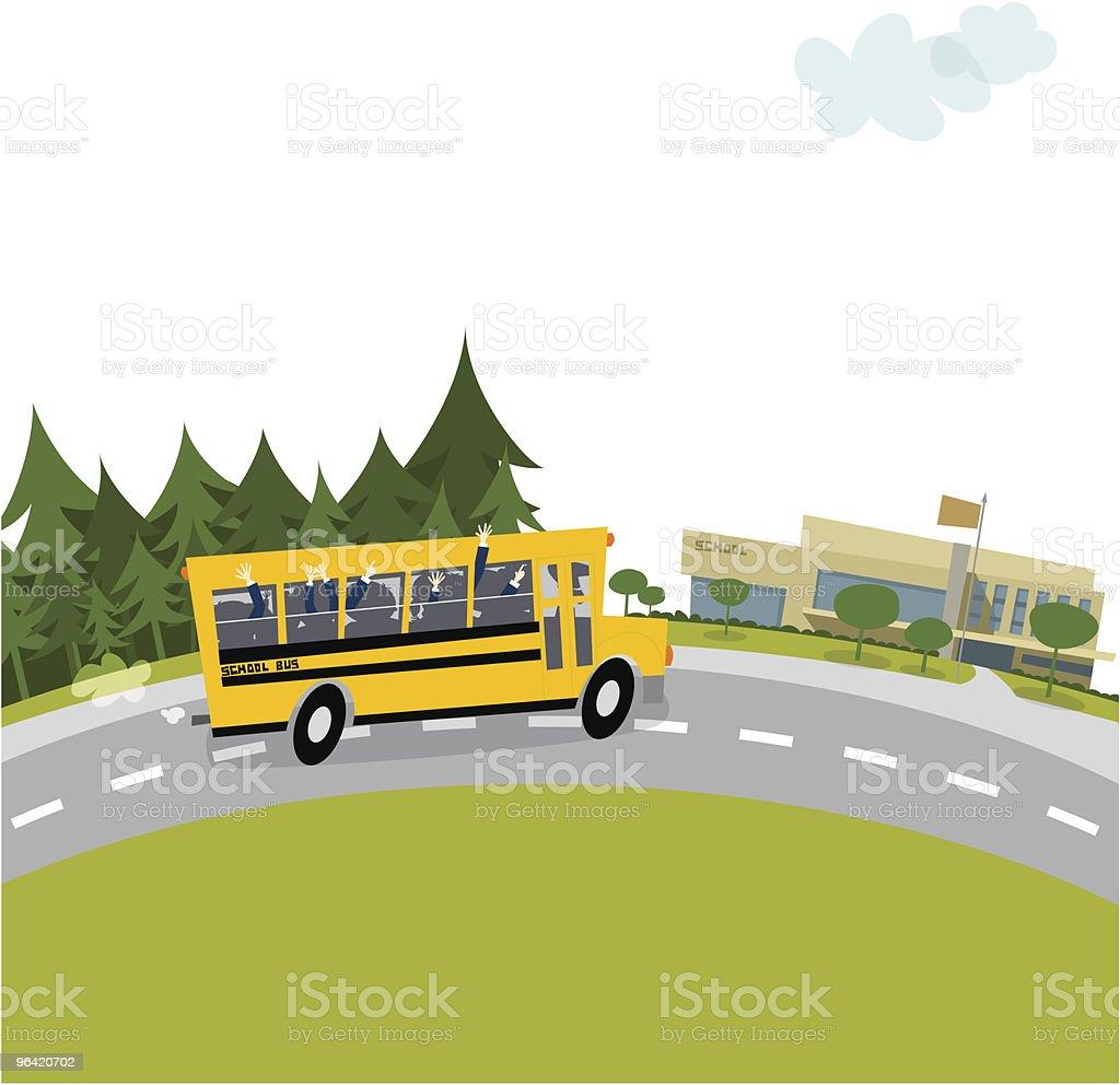 Autobús de colegio - ilustración de arte vectorial