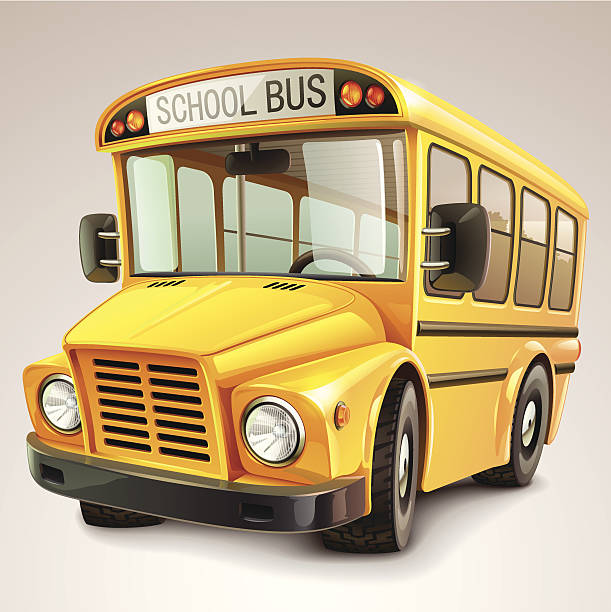 illustrations, cliparts, dessins animés et icônes de bus scolaire illustration vectorielle - bus scolaires