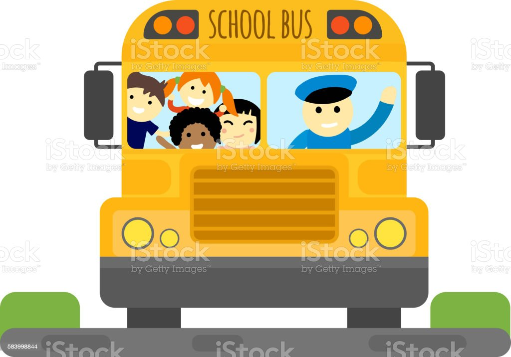 School bus vector isolated vector art illustration