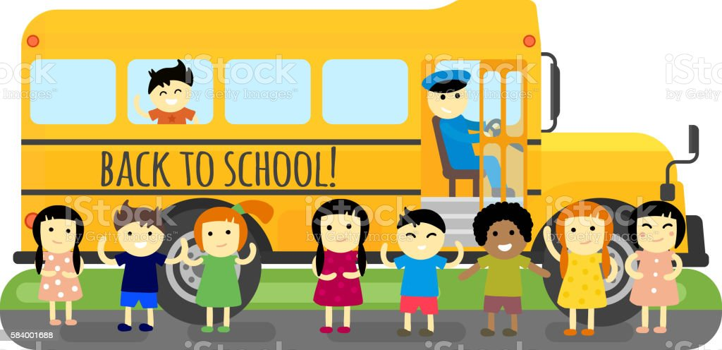 royalty free school bus stop clip art vector images illustrations rh istockphoto com Large School Bus Clip Art Back to School Clip Art