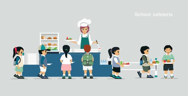 Royalty free school lunchroom clip art vector images for Food bar kantina