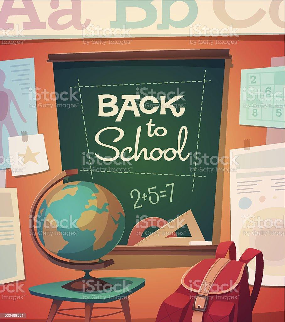 School card \\ poster design. Vector illustration vector art illustration