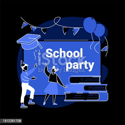 istock School celebration party abstract concept vector illustration. 1312261709