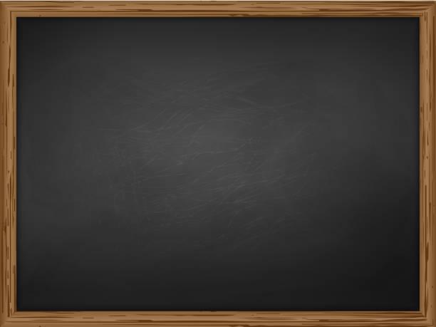School Chalkboard Background Vector Art Illustration