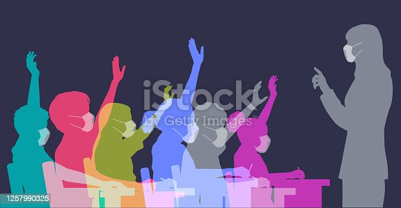 istock School children in classroom with face masks 1257990325