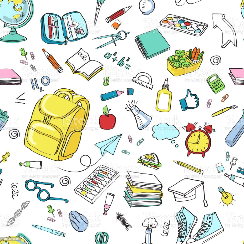 学校のクリップアート ベクトル落書き学校アイコン シンボル - いたずら