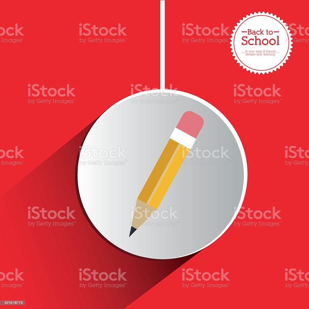 School design vector art illustration
