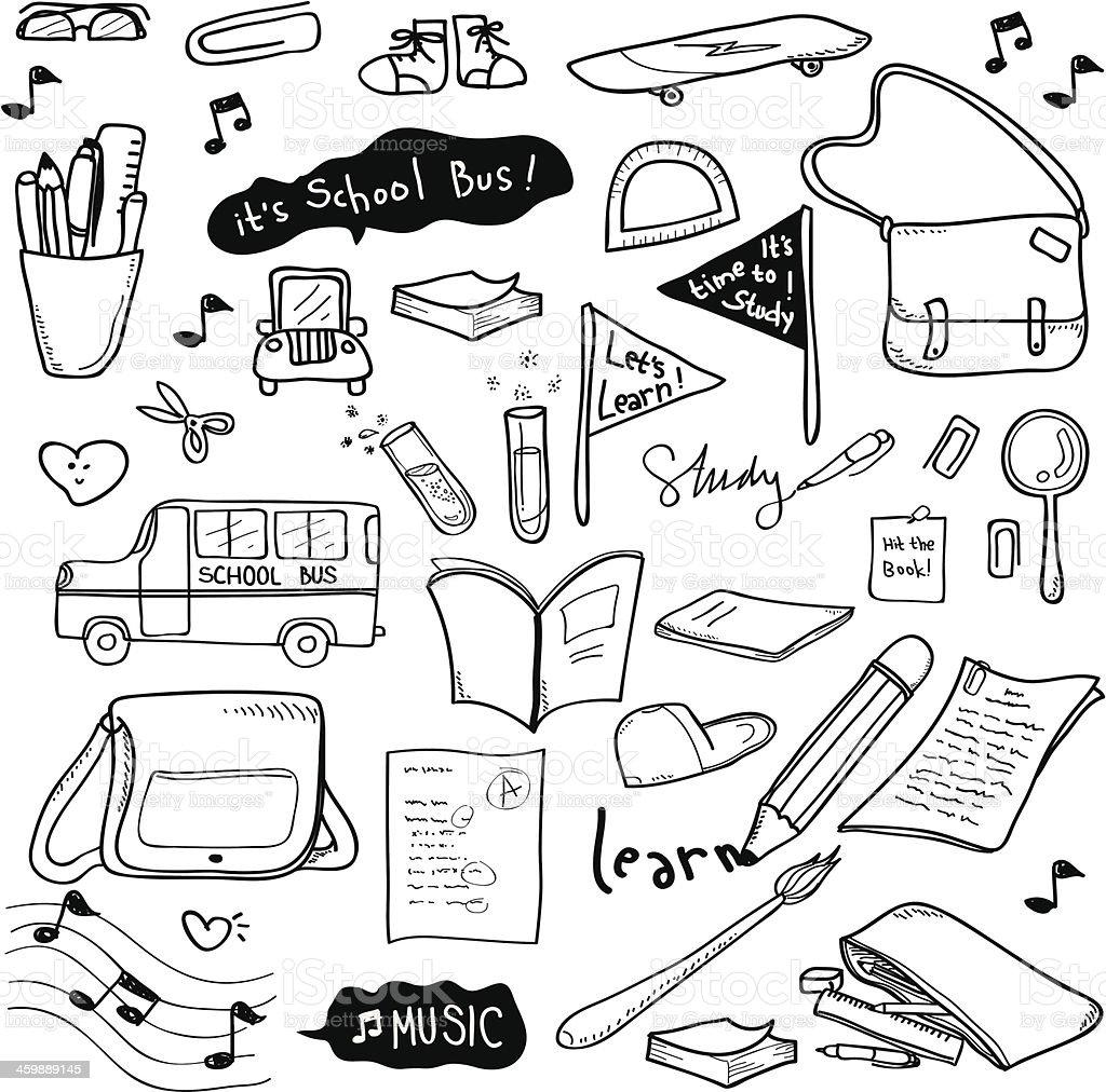 School Doodle royalty-free stock vector art