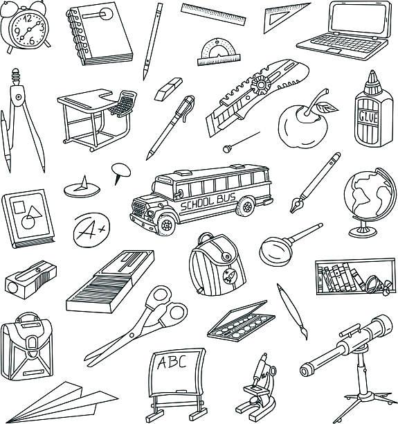 学校のスケッチ - 学校の文房具点のイラスト素材/クリップアート素材/マンガ素材/アイコン素材