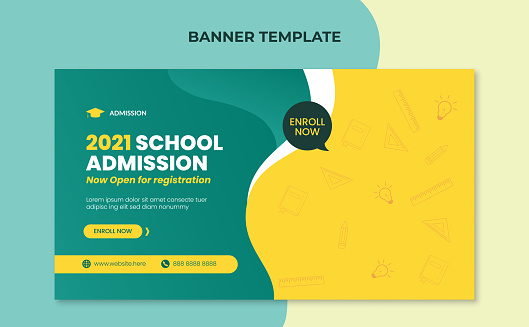 School education admission banner template