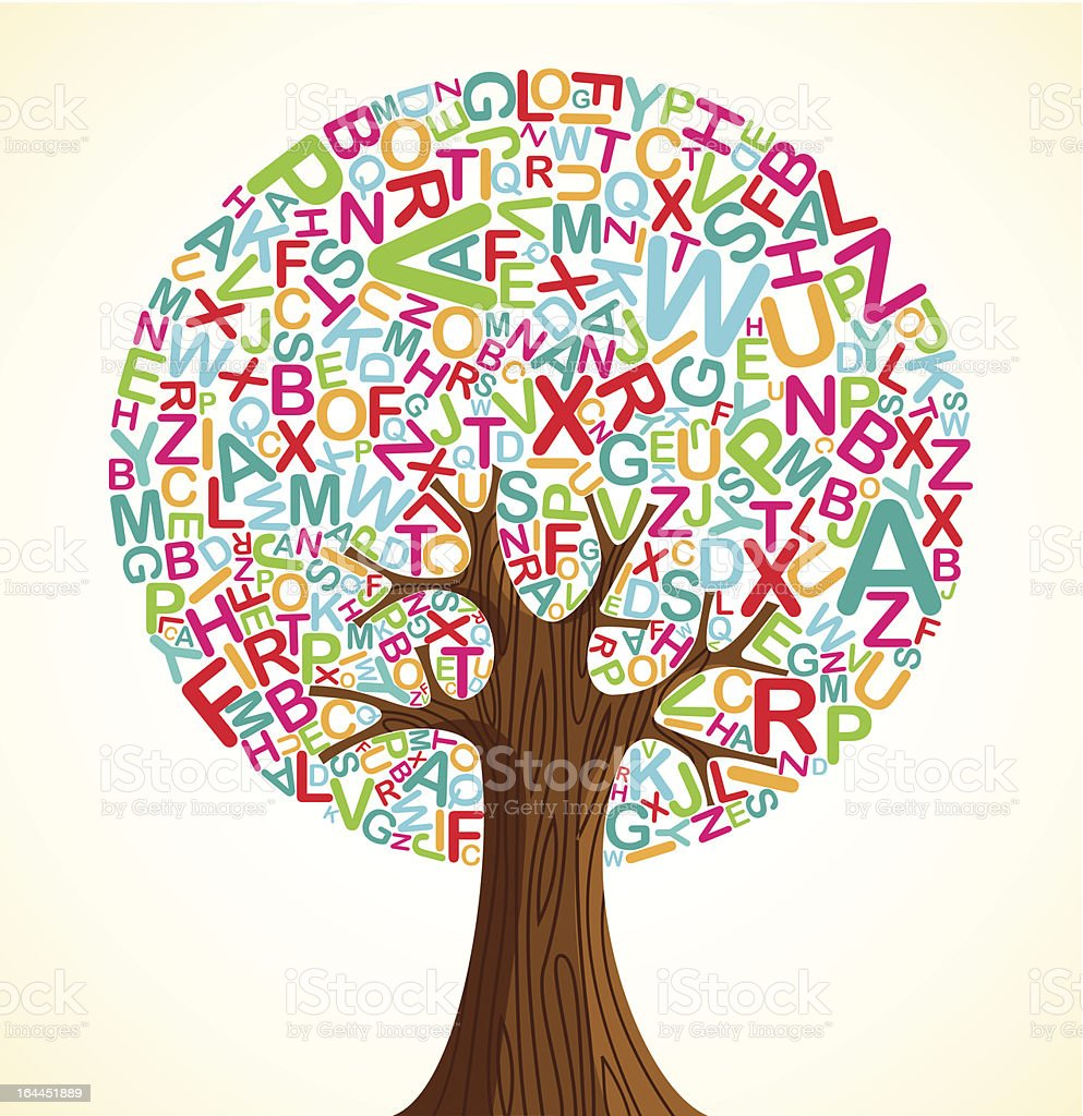 School education concept tree royalty-free stock vector art