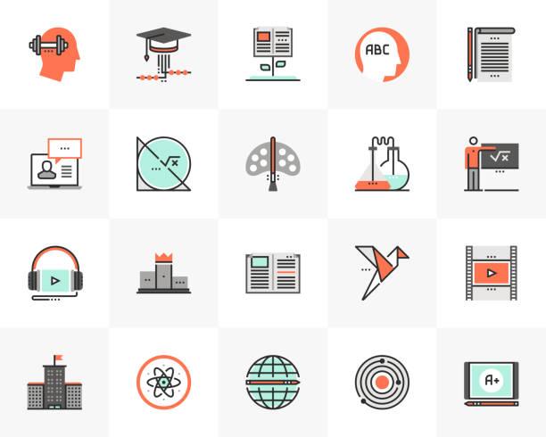 School Education Futuro Next Icons Pack vector art illustration