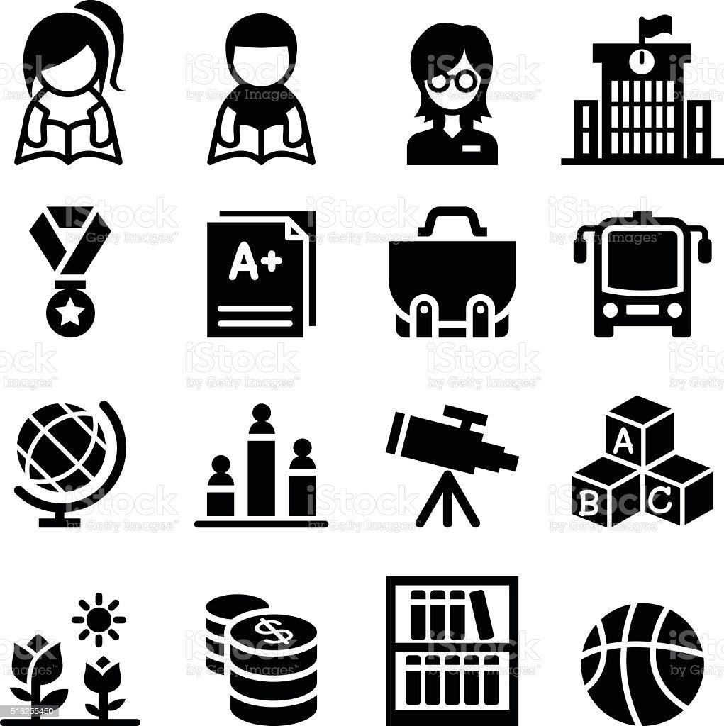 School & Education icon vector art illustration