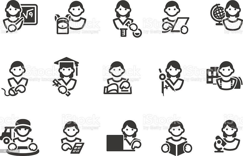 School Education icons royalty-free stock vector art