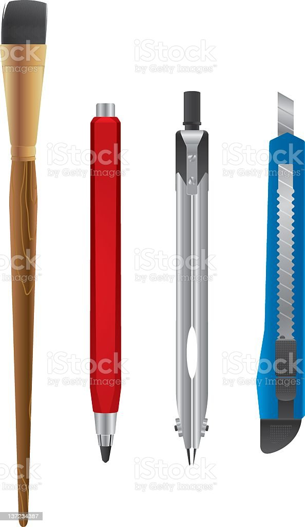 School equipment royalty-free school equipment stock vector art & more images of drawing compass