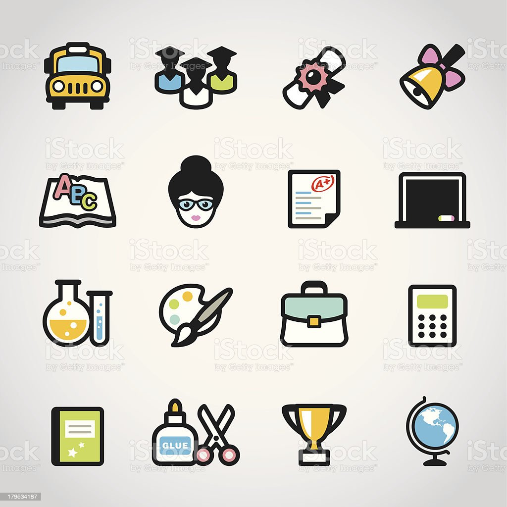 School / Fabrico icons royalty-free school fabrico icons stock vector art & more images of adult