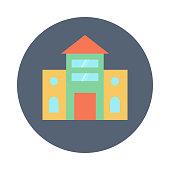 school flat vector icon