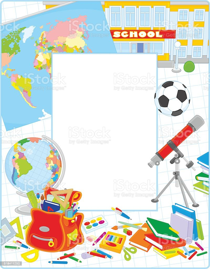 School Frame Stock Vector Art & More Images of American Football ...