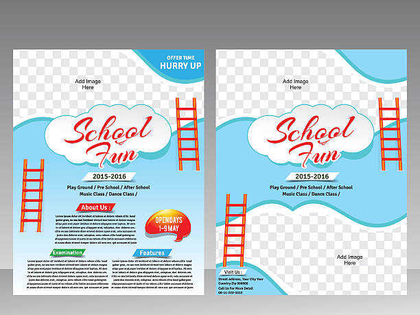 Royalty free school of fish clip art vector images for Fun brochure templates