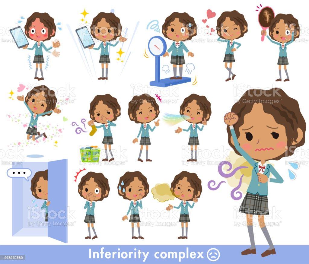 School girl Black_complex vector art illustration