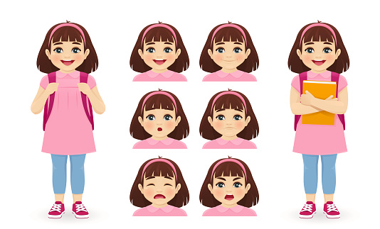 School girl emotions