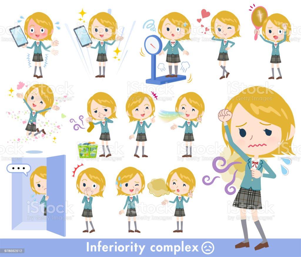 School girl White_complex vector art illustration