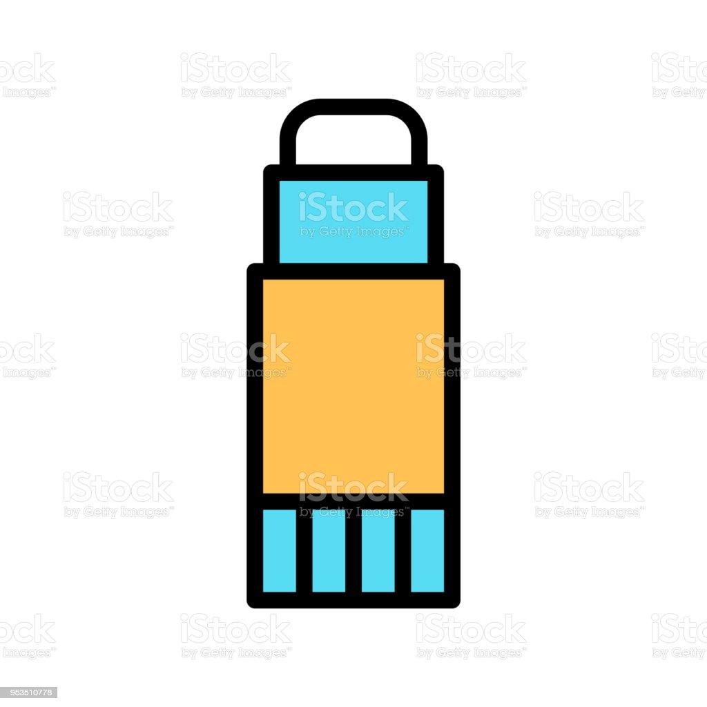 School glue icon. vector art illustration