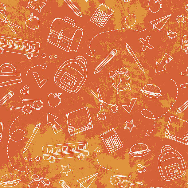 school grunge pattern vector art illustration