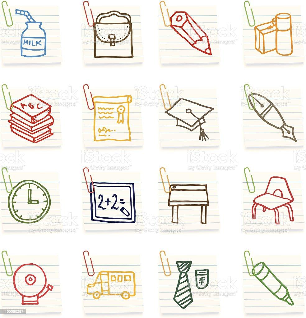 School icon notes vector art illustration