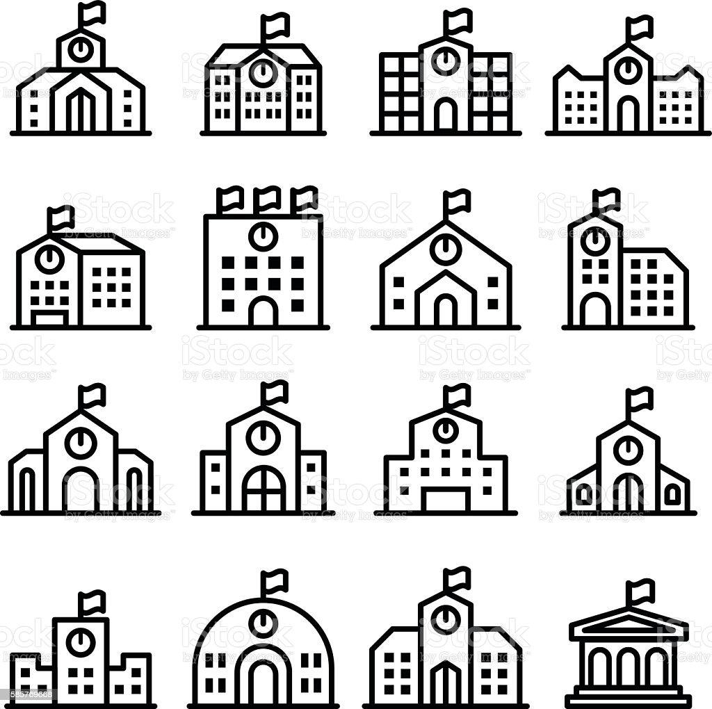 School icon vector free download