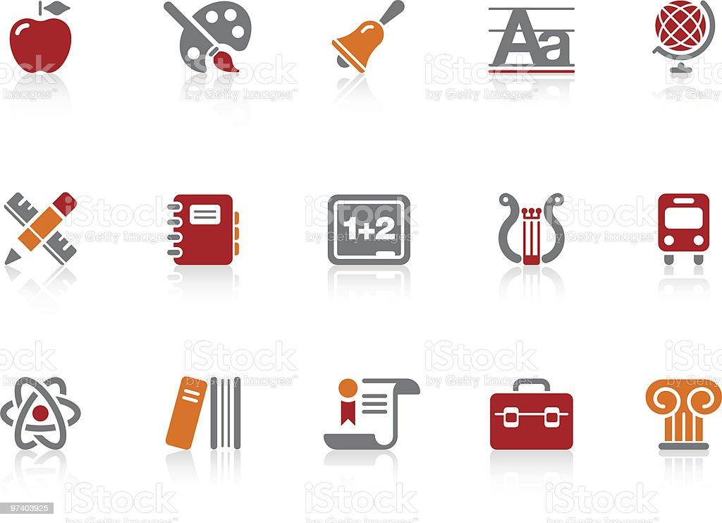 School icons | Alto series royalty-free stock vector art